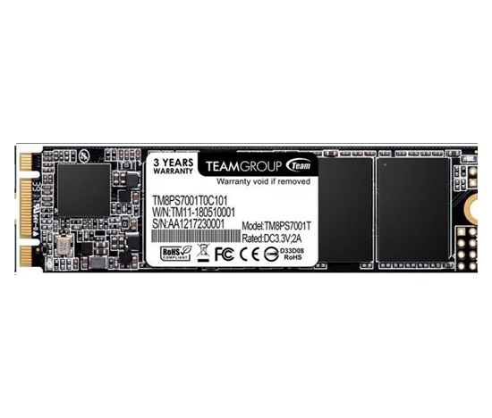 Team SSD M.2 512GB, MS30 (R:550, W:470 MB/s)