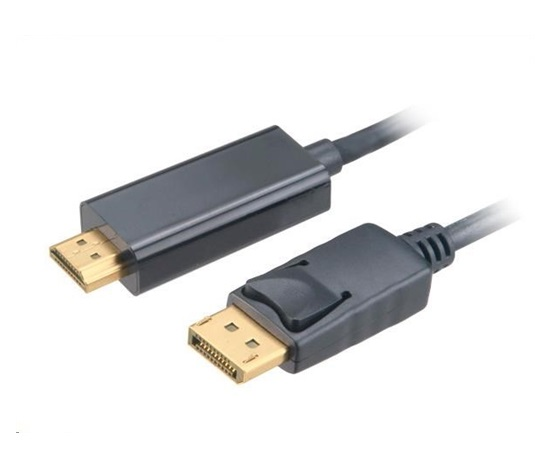AKASA Kabel 4K DisplayPort na HDMI active, adaptér, 1.8m