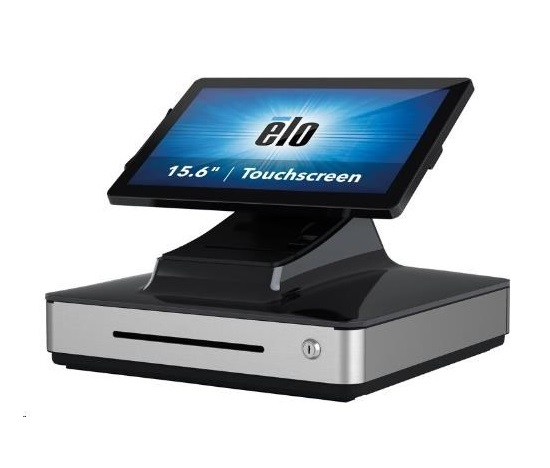 Elo PayPoint Plus, 39.6 cm (15,6''), Projected Capacitive, SSD, MSR, Scanner, Win. 10, black