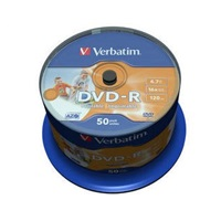 VERBATIM DVD-R(50-Pack)Spindle/Inkjet Printable/16x/4.7GB