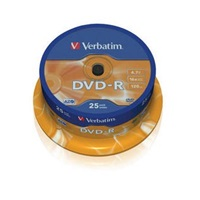 VERBATIM DVD-R(25-Pack)Spindle/General Retail/16x/4.7GB