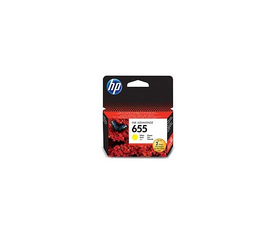 HP 655 Yellow Ink Cart, CZ112AE