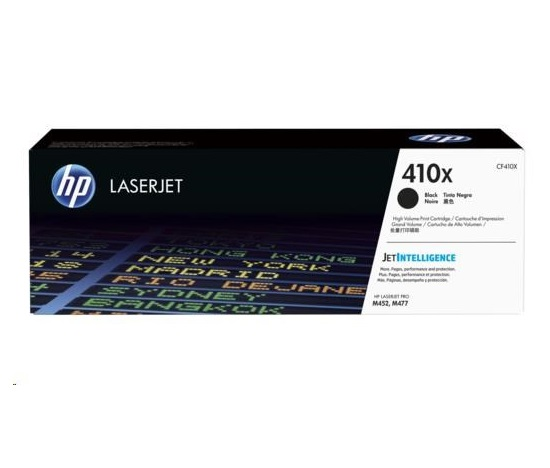 HP  410X Black LJ Toner Cart, str, CF410XC , CONTRACT