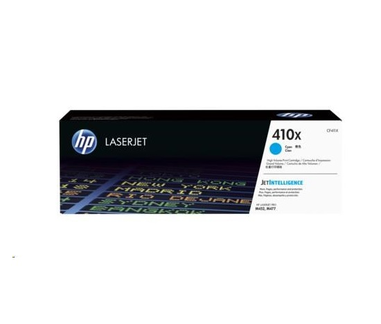 HP  410X Cyan LJ Toner Cart, str, CF411XC, CONTRACT