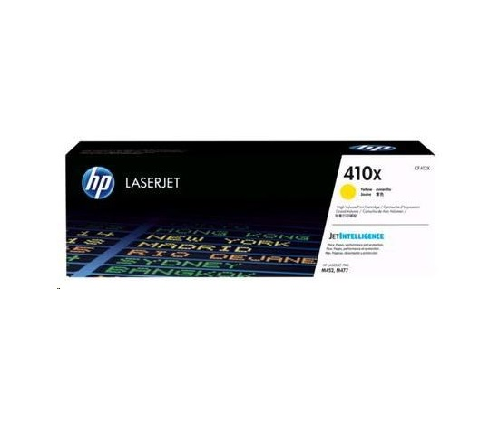 HP  410X Yellow LJ Toner Cart, str, CF412XC, CONTRACT