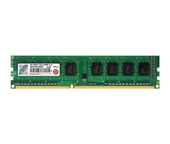 DIMM DDR3 2GB 1333MHz TRANSCEND 1Rx8 CL9